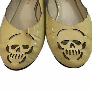 Loeffler Randall cream skull flats
